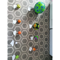 Zak and his Dad made a solar system.