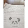 Harper chose a panda to write about.