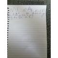 Zak wrote a sentence.
