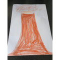 Harper's volcano drawing before eruption.