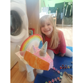 Can you guess which dinosaur she made?