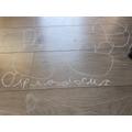 Diplodocus on the floor!