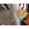Dinosaur drawing on the floor!