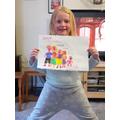 Olivia has drawn her family.