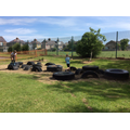 Assault course in the Tyre Park.