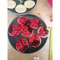 Fantastic Ladybird biscuits Neve!