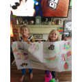 Alfie and Harper made a fantastic poster!!