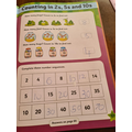 Counting in 2s 5s 10s.