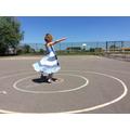 Love that swirly skirt!