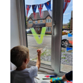VE day decorations.