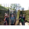We all enjoyed getting wet in Alnwick Garden!