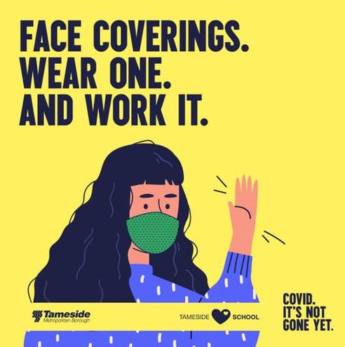 Please wear a face covering on school premises