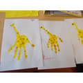 Giraffe handprints