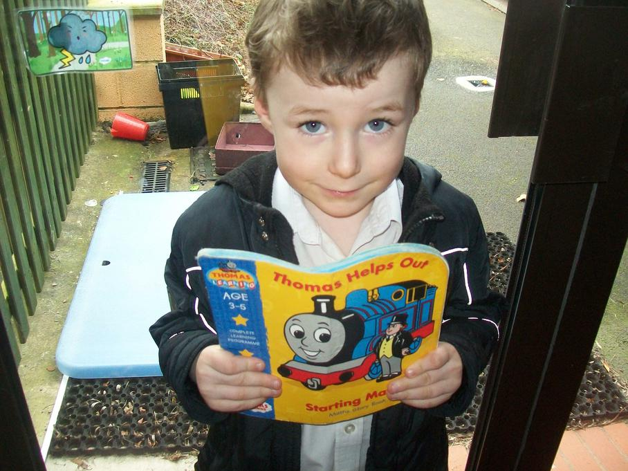 I can learn about shapes when I read Thomas.