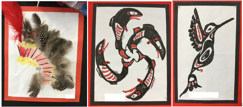 Our pen drawings were inspired by Haida artwork