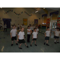 Year 1 children training.