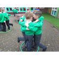 Year 1 children being good friends