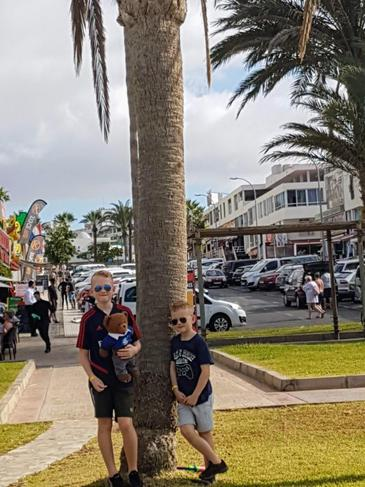 Barnaby went to Tenerife at Christmas