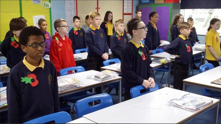 6C showed respect to war veterans past & present during the two minute silence.