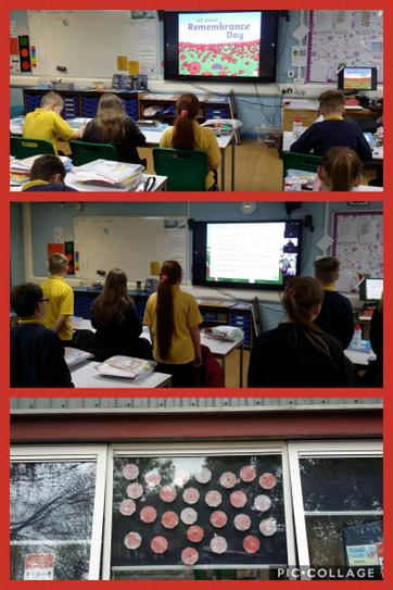 6G learning the meaning of Remembrance Day and observing 2 minutes silence 11.11.2020