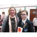 Maisie and author Julia Golding