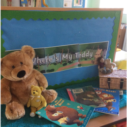 """We read the """"Where's My Teddy?"""" stories."""