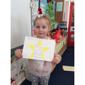 Poem writing in a star