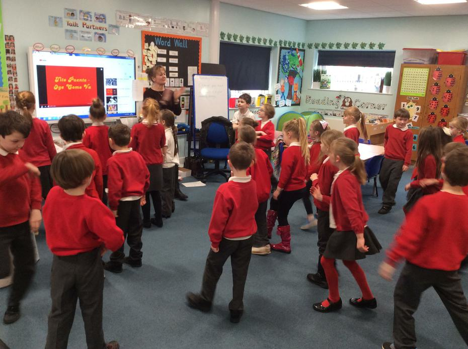 We learnt some salsa dancing!
