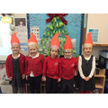 Our super Santa hats ready for Christmas lunch