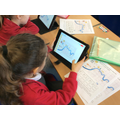 Year 2 programming the Blue-Bot to move around a map of London on the Blue-Bot app