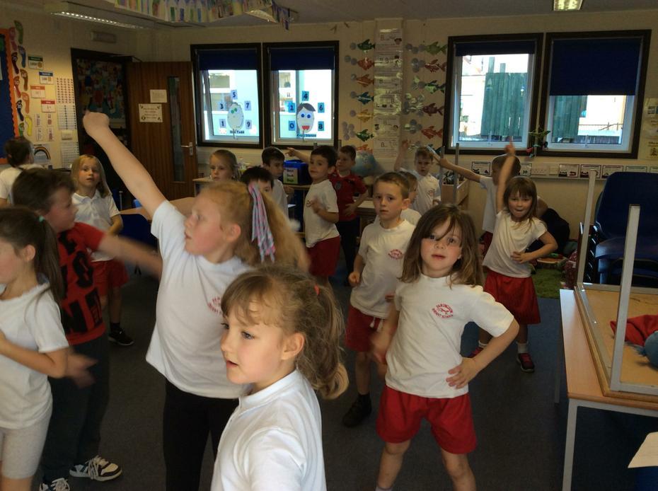 We learnt a disco dance.