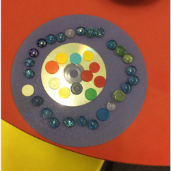 We are making patterns with shapes this week.