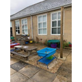 This is our outdoor area ready for lots of fun.