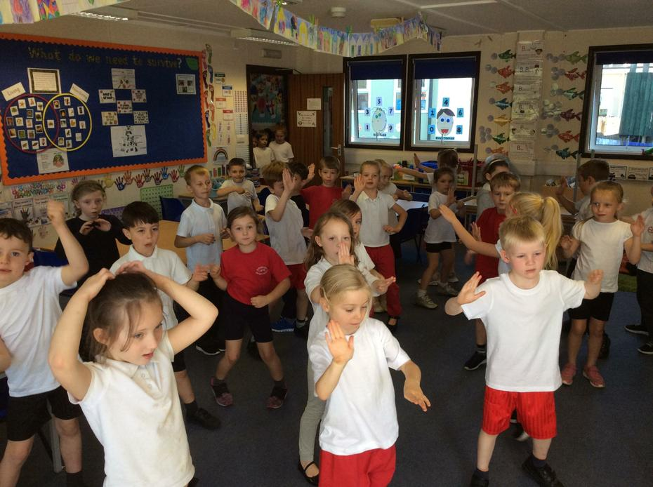 We did some freestyle dancing.