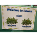 Welcome to Year 1 and Rowan class.