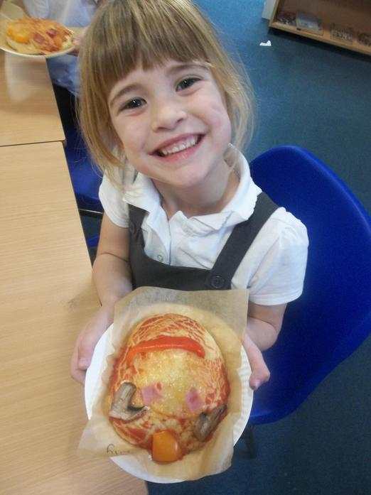 Our pizza characters were really tasty!