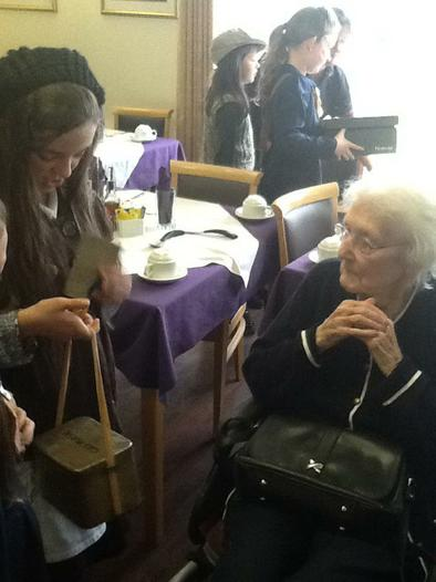 Speaking to residents about wartime memories