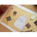 We gathered ideas for a dress for Bess!