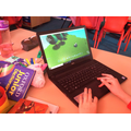 We used Kodu to design an allotment game setting.