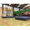 Mat surfing in the Sports Hall