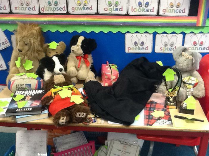 Our special things table,learning about each other