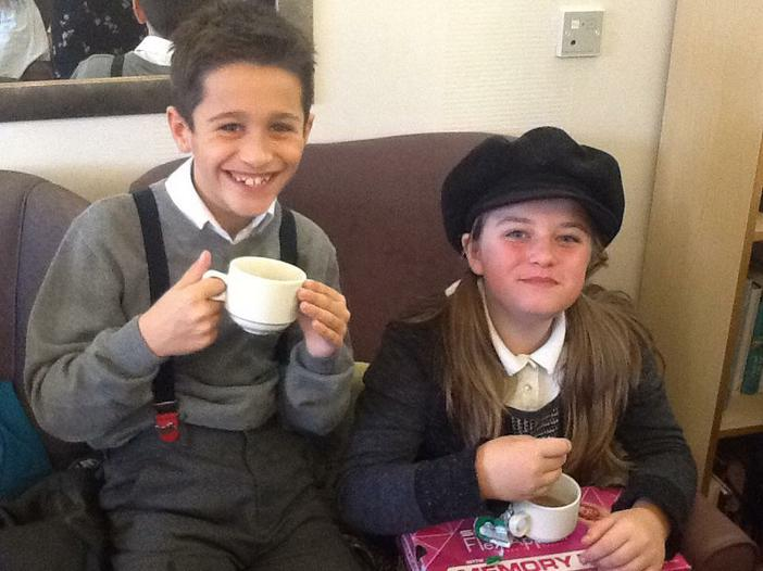 Hot chocolate and treats at Magnolia House