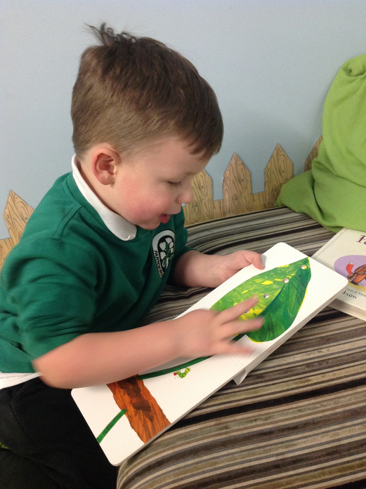 We read the book together in the book corner