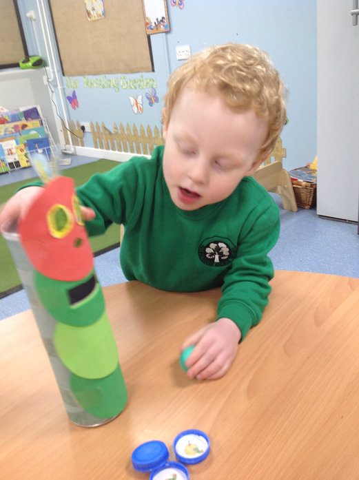 We fed the hungry caterpillar all of the tasty foods he likes