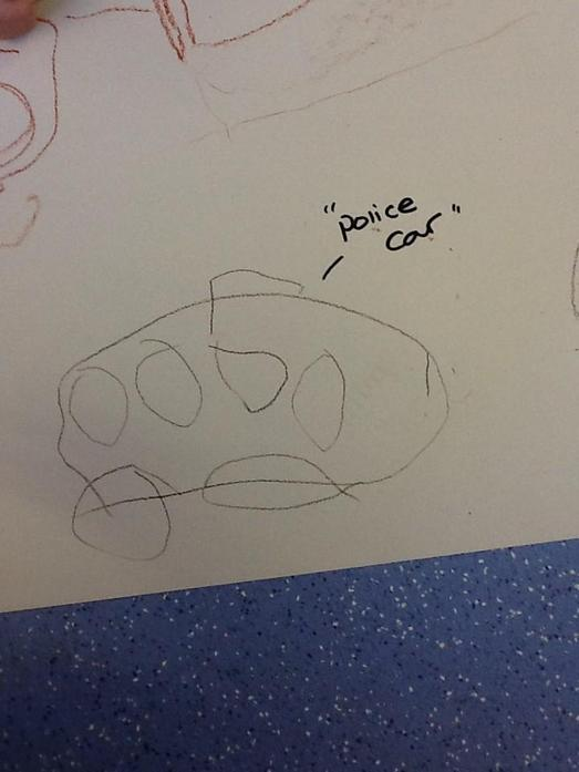 We drew our own police cars