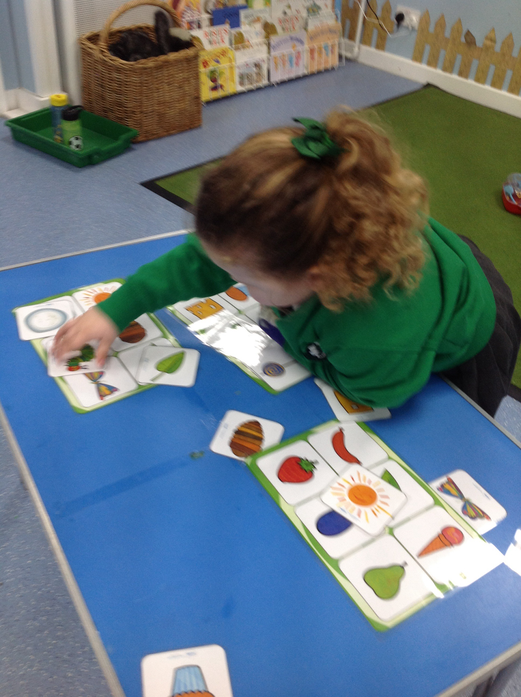 We matched the different parts of the story together