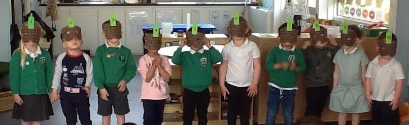 """We have been learning the song '10 Green Bottles"""" and other number songs"""