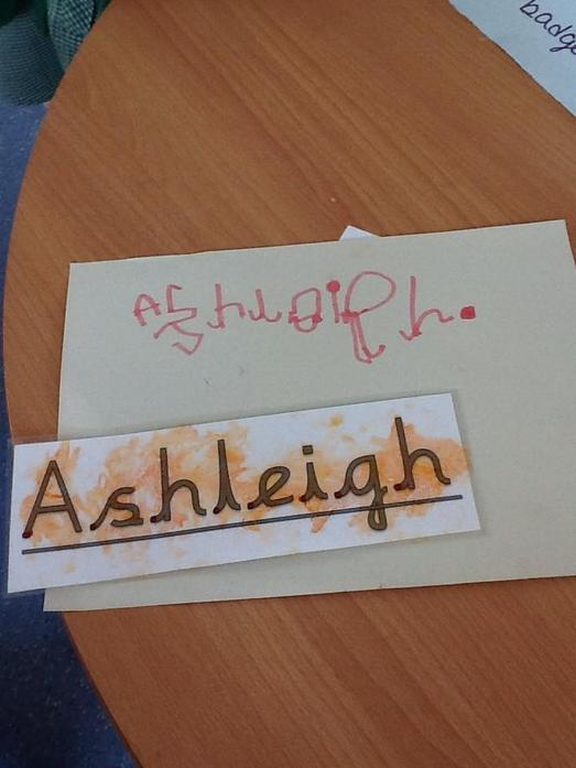 We have been learning to write our names