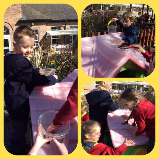 We had a lovely time painting our house!