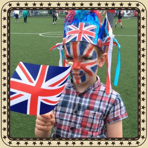 Looking very patriotic!